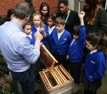 Ambler pupils and parents inspired on visit to West End landlord