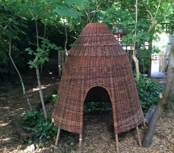 Ambler's forest now home to fantastic new wicker huts